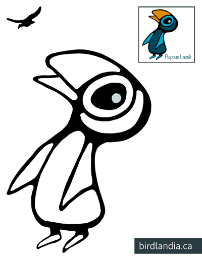 Flappus-Lazuli Colouring Page thumb